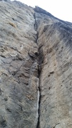 Climb the crack. This was my first time at the cliffs, so PM me if any beta is incorrect.