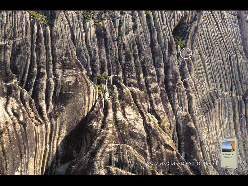 Climbers on Pedra Riscada, Quixada.