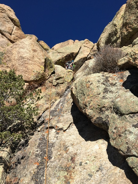 Ryan on the 1st ascent.
