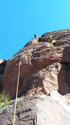 Rock Climbing Photo: 5.10c sport route on the right side and 5.8 trade ...