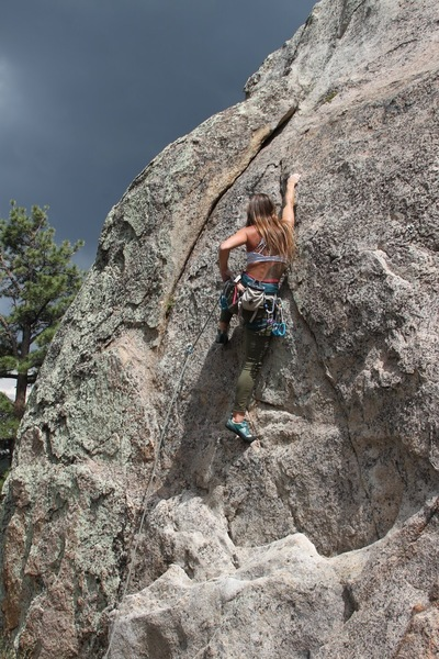 Meg making the second clip on Naughty Pine, 5.6.
