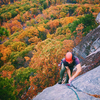 Andrew Kontola on the final moves of Bloody Mary at the Gunks. Nov. 2, 2017.
