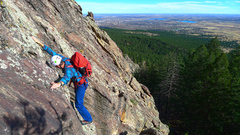 Rock Climbing Photo: Near the bottom of the route before the chimney na...