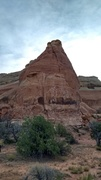 Rock Climbing Photo: The front side. Rappel 180 degrees from this.