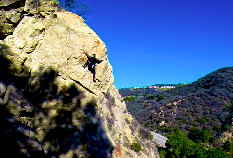 Jeff Constine on the Upper crux of Unusual Suspects 12b