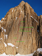 Topo by David Wilson taken from  <br /> <br /><a href='http://www.supertopo.com/climbers-forum/964849/Left-Wing-Extremist-V-5-11a-Galen-Rowell-David-Wilson' target='_blank' rel='nofollow' >supertopo.com/climbers-forum/9...</a>
