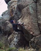 Rock Climbing Photo: Fran's Slopey Mantel.