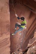 Rock Climbing Photo: The whip.  So close!