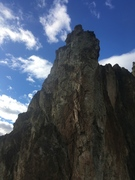 Rock Climbing Photo: View looking up towards the ridge of Vulture Ridge...