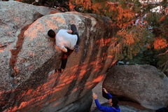 Rock Climbing Photo: Mike F getting it done at sunset on the topout of ...