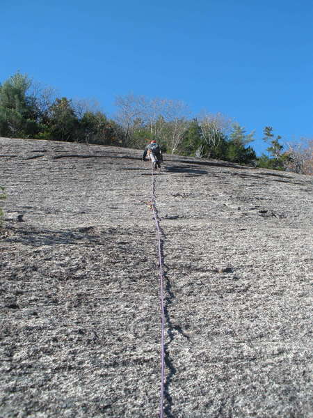 RW higher on V-2, around the crux