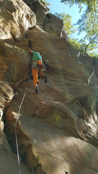 Entering the crux section.