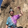 village idiot with 3rd hanger that pulled out of the rock post-send.