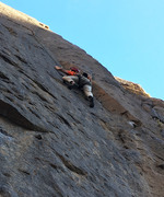 the gazelle approaching the crux on 'results may vary'