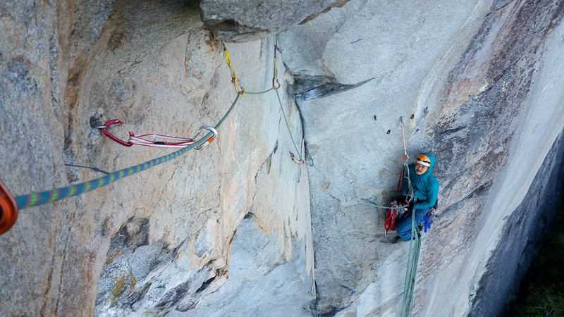 4th Pitch Belay; Photo by Karl VonZabern