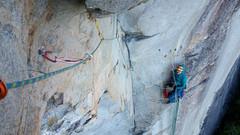 Rock Climbing Photo: 4th Pitch Belay; Photo by Karl VonZabern