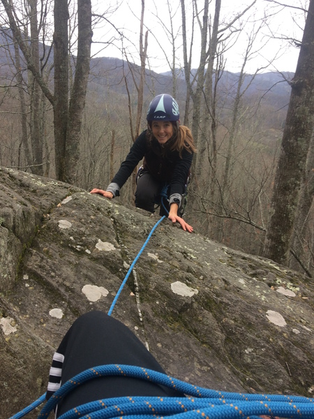 poplar crack has great anchor building opportunities at the top and a safe ledge to practice belaying the second on.