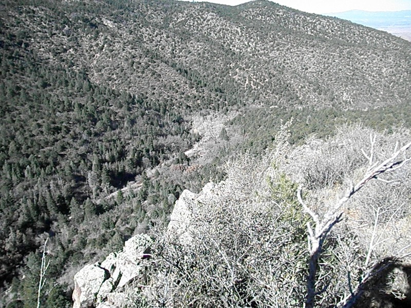 Looking down canyon from the top of Boot Hill Crag.