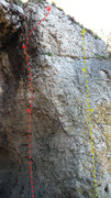 Rock Climbing Photo: Räucherkammer on the left in red, Bellas Artes on...