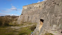Rock Climbing Photo: A portion of the amphitheater as seen from atop th...