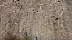 Rock Climbing Photo: Cesta Prokopa Divise - the 4th bolt is just above ...