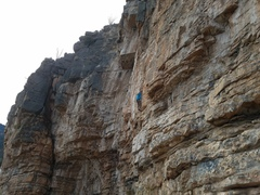 Luis on the Crimpy Section