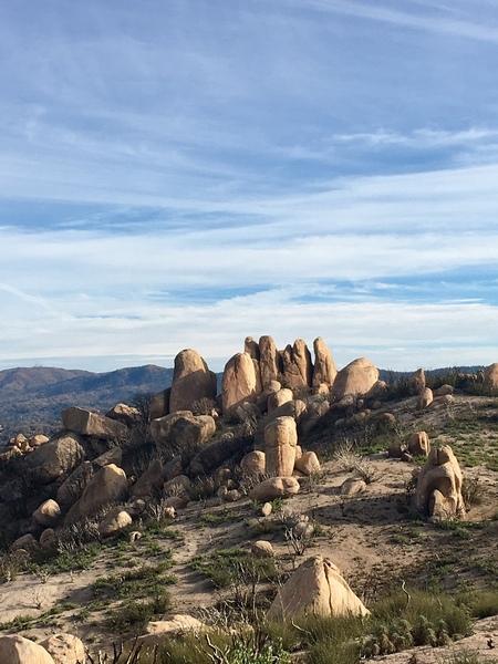 Main Ridge Pinnacles 1-6 from the north.