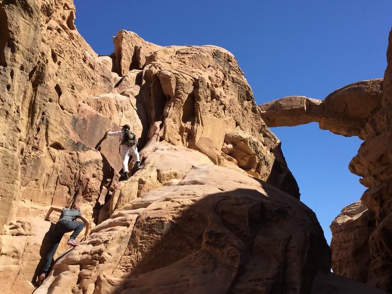 On the way to Burdah Arch, Wadi Rum Jordan
