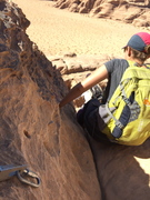 Rock Climbing Photo: Rap anchor passed on the descent on the direct rou...