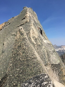 Rock Climbing Photo: Summit pitch of Warbonnet, Sawtooth Wilderness, Id...