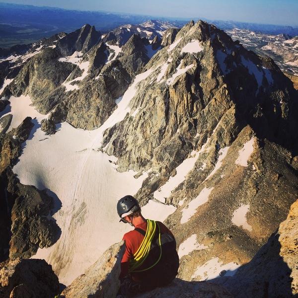 Ethan Davis on the Exum Ridge, Grand Teton 2017