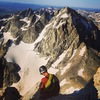 Ethan Davis on the Exum Ridge, Grand Teton 2017