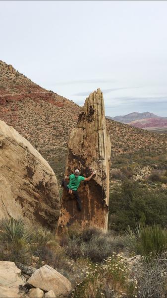 Tall cleaver boulder, V1