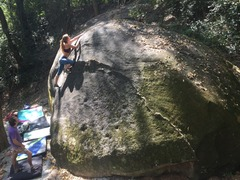 Climbers enjoy the Turtle boulder