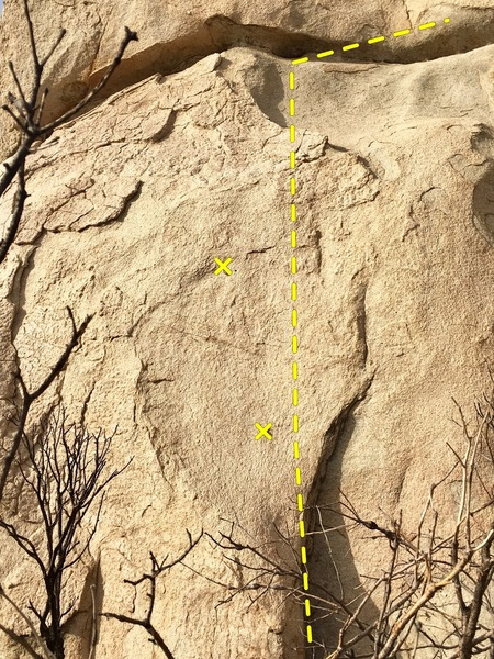 Beginning of South Face.