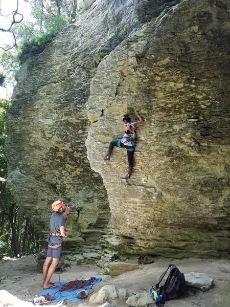 Climber on Johnny P