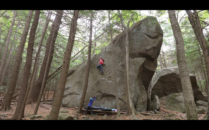 Entering into the crux on the mega classic 'The Dream Of Life' (v7).