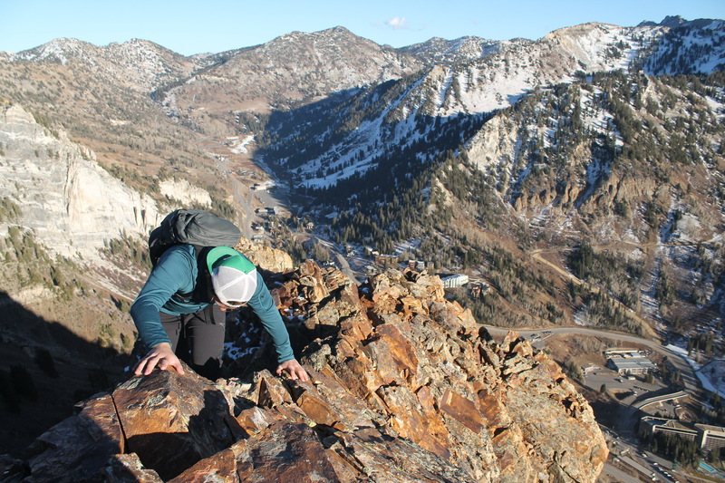 This route can be pretty spicy when you through some snow and verglas on the knife-ridge! <br> November 14th, 2017