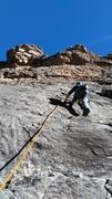 Rock Climbing Photo: Mandy Martin on the first pitch.