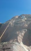 Rock Climbing Photo: This is a sport route to the right and a crack to ...