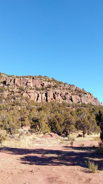 The sandstone front of the canyon.