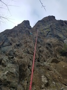 The route set up by the boulder anchor in my last photo
