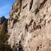 Emma climbing The Safe Zone