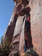 Rock Climbing Photo: Erez on the FA