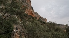 Rock Climbing Photo: Theos Cave seen from the approach trail.