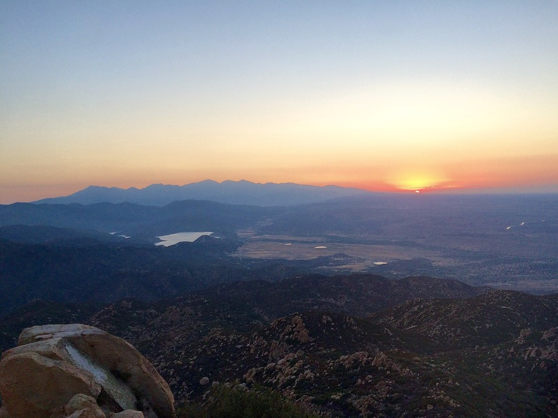 Sunset from the Pinnacles Summit.