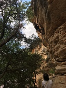 Rock Climbing Photo: Justin getting spanked