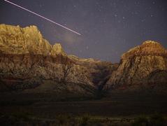 Mt. Wilson and Oak Creek at night