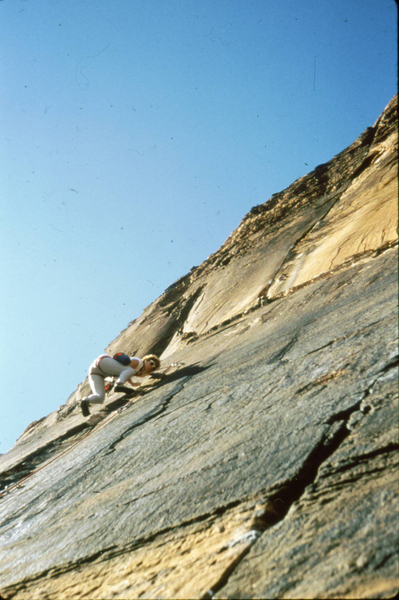 Unlabelled photo from my archives, this is me leading what I think is this route.