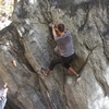 Working up into the crux